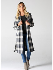 Angie Brushed Plaid Trench (SJ981)