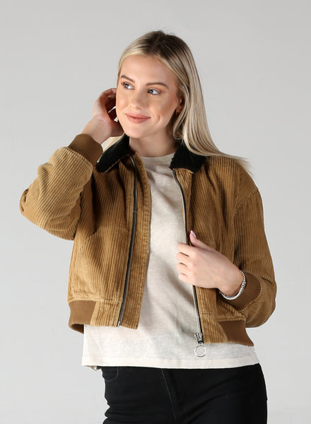 Angie Cord Zip Up Jacket (SJA08)