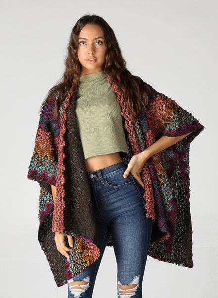 Angie Colorful Knit Wrap (SJA23)