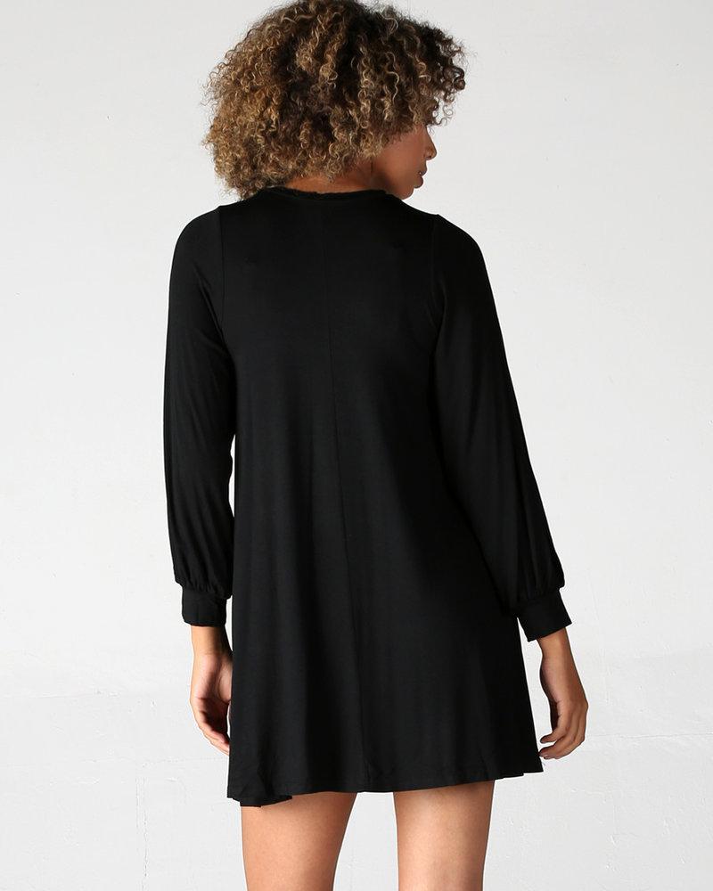 Angie Slit Long Sleeve Knit Dress (X4V07)