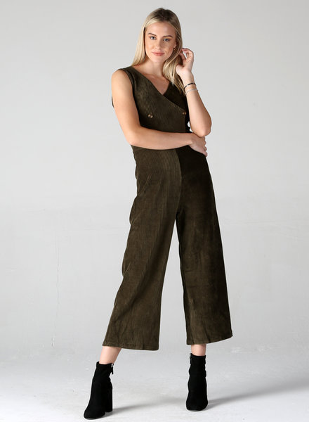 Angie Stretch Cord Jumpsuit (X5138)
