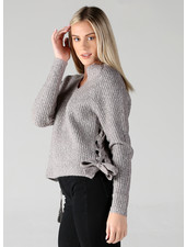 Angie Lace Up Sides Pullover (XHE80)