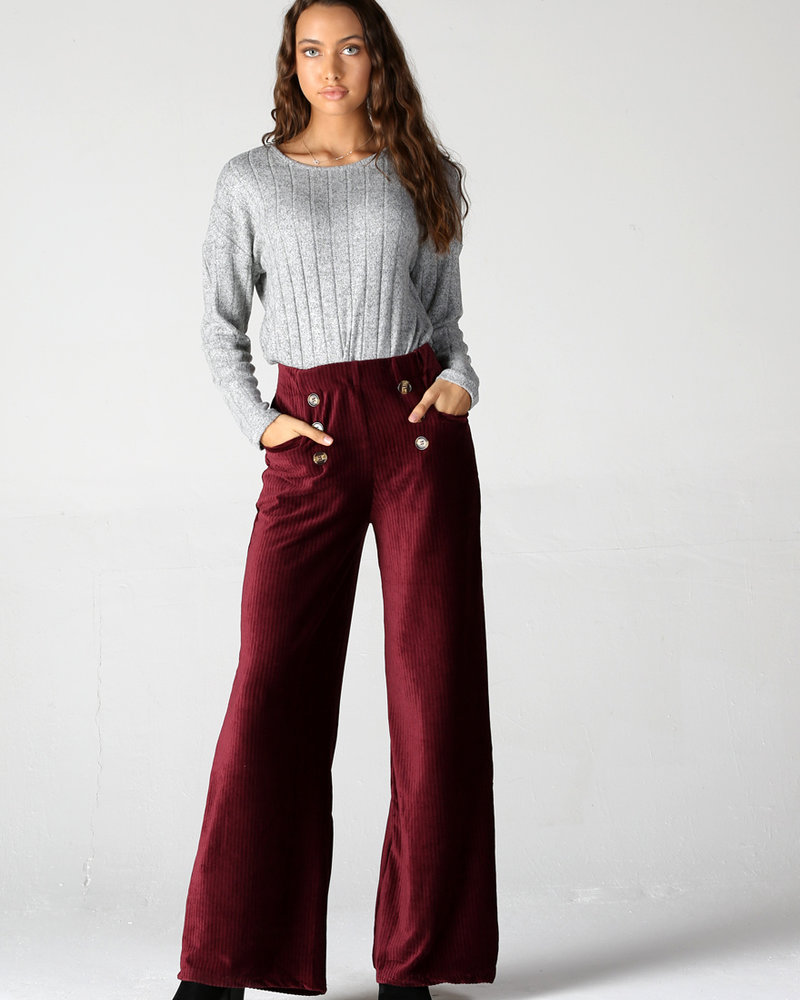 Angie Button Corduroy Pants (25R15)