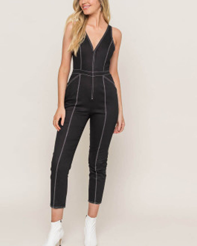 Lush Contrast Tread Jumpsuit (LP21355-CL)