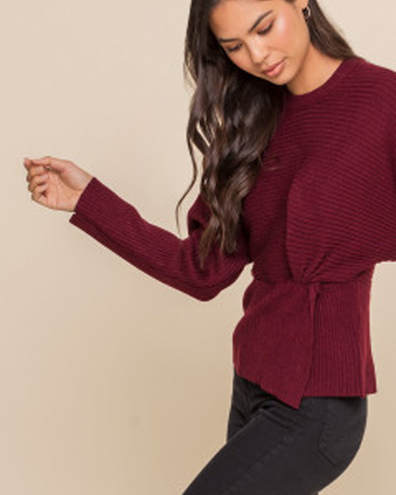 Lush Sweater With Knotted Side (LT14078-CI)