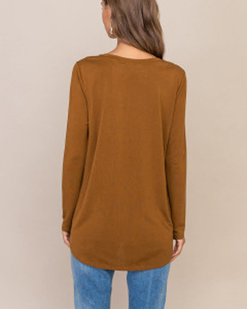 Lush Knotted Front Top (T15130-I)