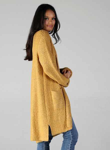 Angie Curly Yarns Two Pocket Cardigan (XHD87)