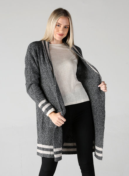 Angie Collegiate Stripes Cardi (XHE83)