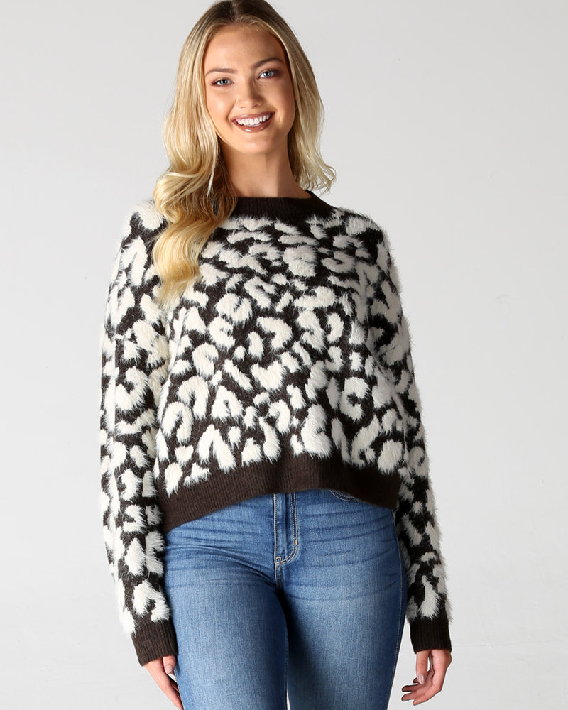 Angie Fuzzy Animal Pullover (XHF20)