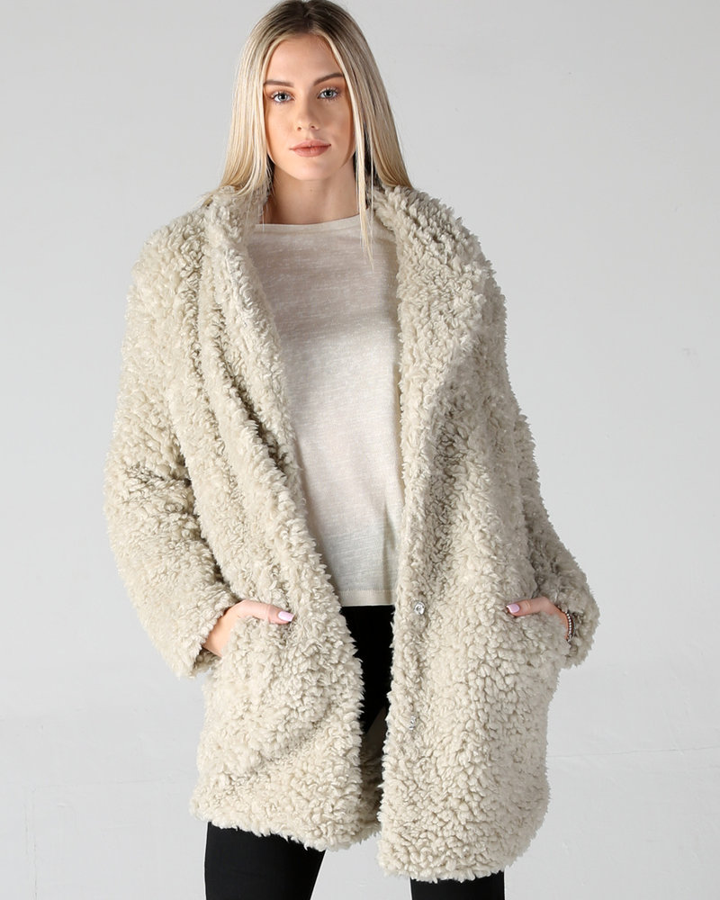Angie Tan Furry Coat (SJ988)