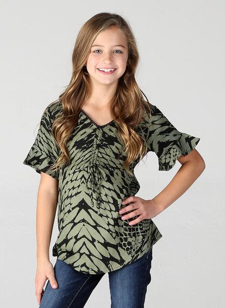 Angie Girl Angie Girl 3/4 Sleeve Top (K2U90)