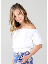 Angie Girl Angie Girls Bell Sleeve Top With Embroidery (K2Z02)