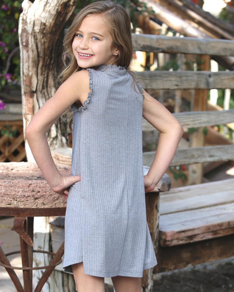 Angie Girl Angie Girl Dress With Ruffles Rib Knit (K4R18)