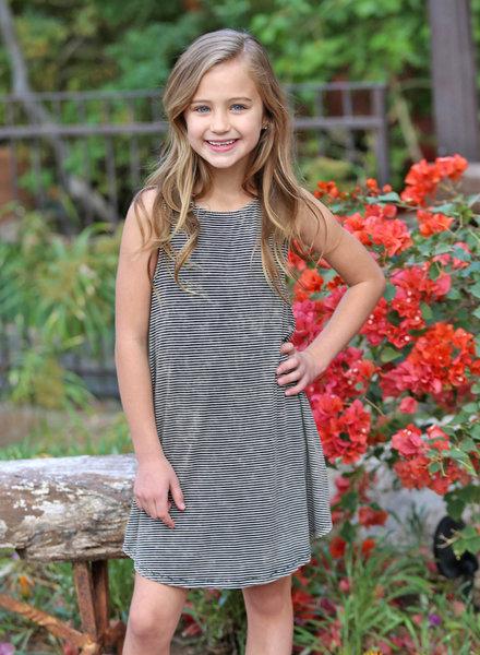 Angie Girl Angie Girl Washed Stripe Tank Dress (K4T26)