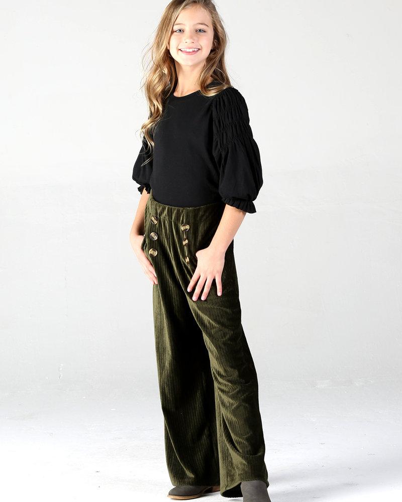 Angie Girl Angie Girl Button Corduroy Pants (K5R15)