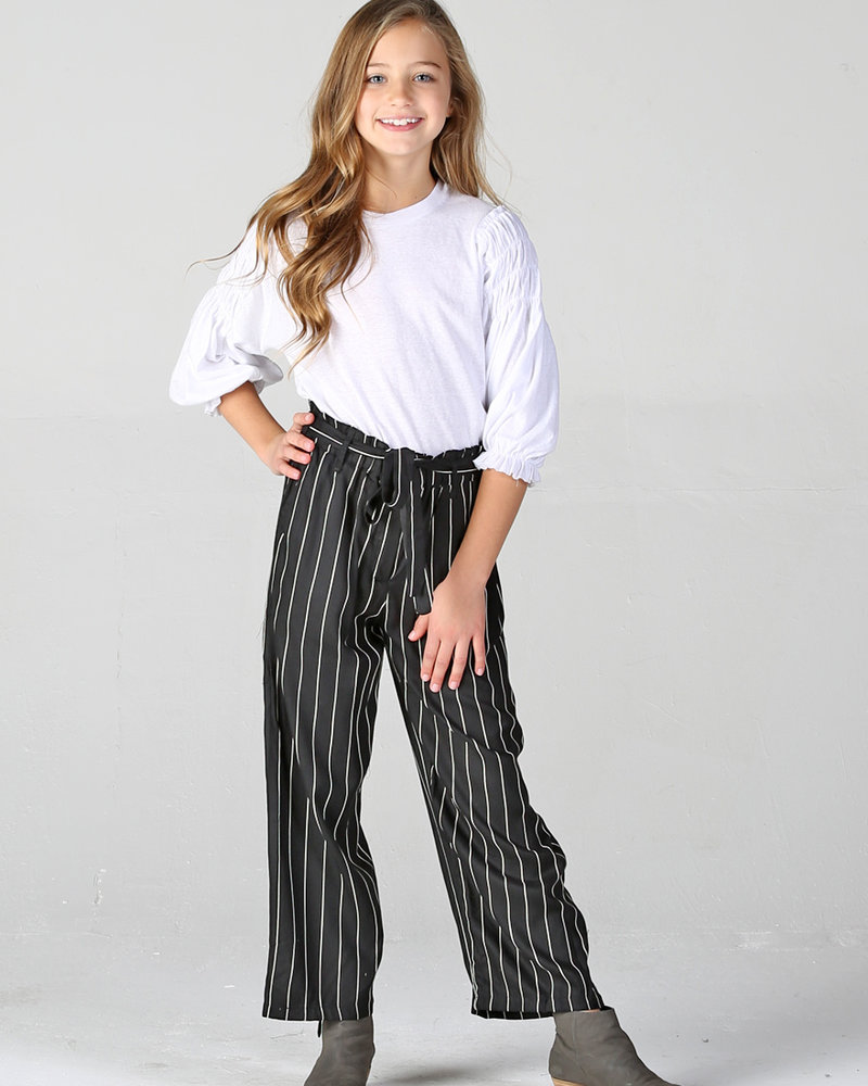 Angie Girl Angie Girl Twill Pant Tapered Leg With Tie Waist (K5R17)
