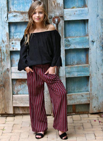 Angie Girl Angie Girl Stripped Wide Leg Pant (K5U54)