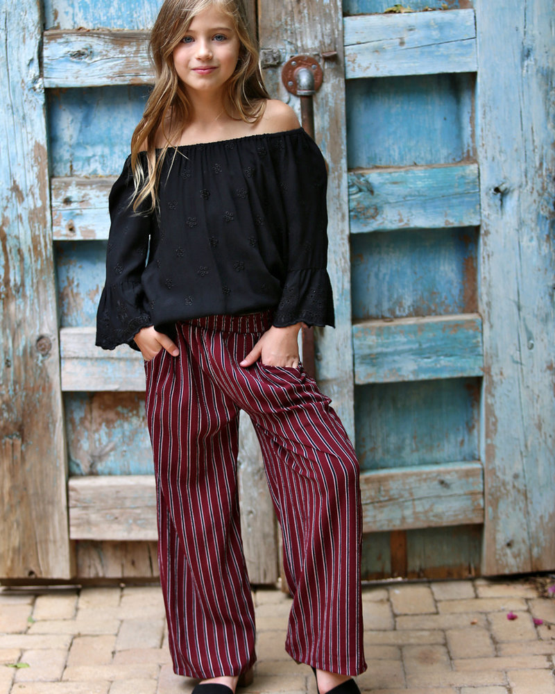 Angie Girl Angie Girl Stripped Wide Leg Pant (K5U54)