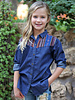 Angie Girl Angie Girls Long Sleeve Button Up Denim with Border Shoulder (K2R38)