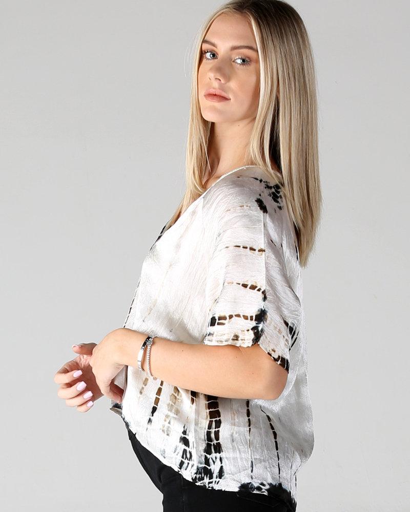 Angie Silky Tie Dye Top (B2X88)