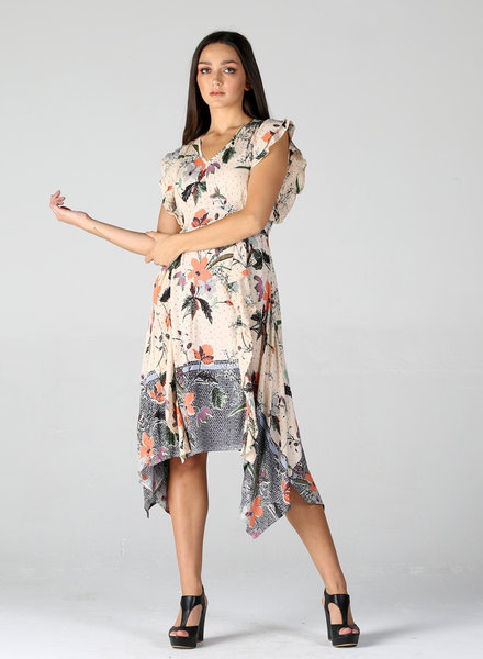 Angie Floral Ruffle Dress (F4D51)