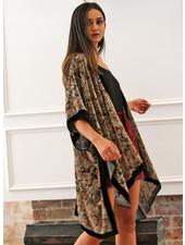 Angie Burnout Velvet Kimono (X2AP2)