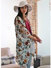 Angie Burnout Velvet Kimono (X2Y55)