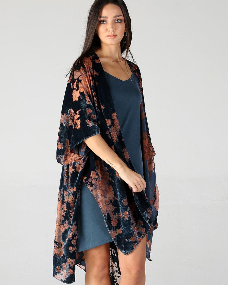 Angie Burnout Velvet Kimono (X2AP1)