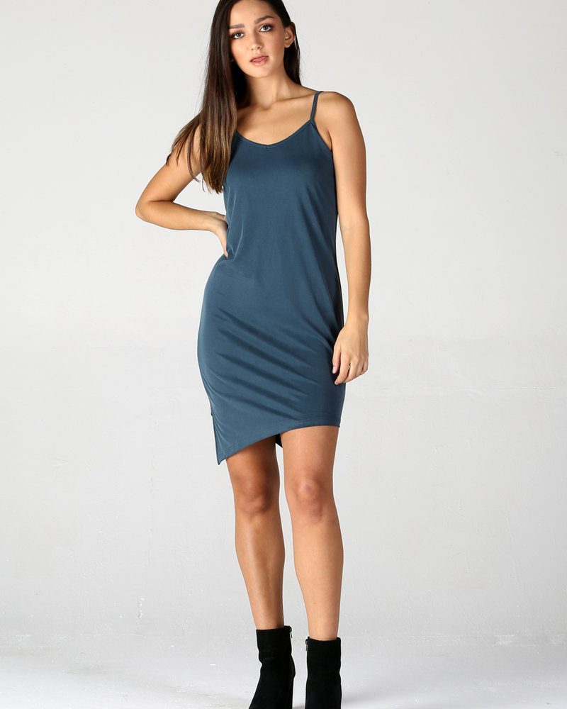 Angie Spaghetti Strap Midi Dress (X4W70)