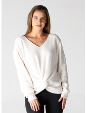 Angie Twist Front Chenille Pullover (XHF41)