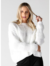Angie Fuzzy Stripes Pullover (XHG13)