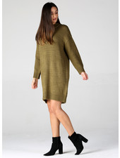 Angie Rib Knit Sweater Dress (XHG44)