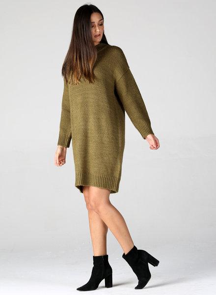 Angie Rib Knit Sweater Dress (XHG44)