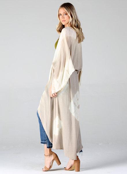 Angie Tie Dye Tie Front Kimono (BJ625)