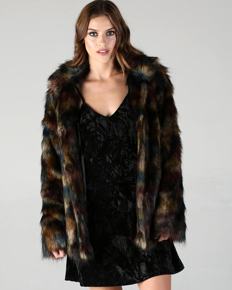 Angie Multi Color Fur Jacket (SJ789)