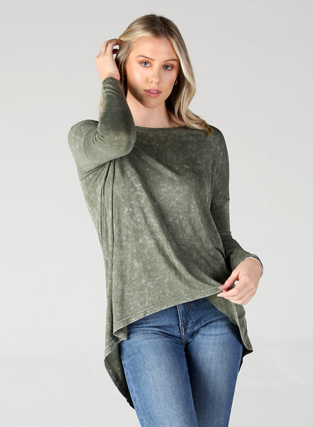 Angie Mineral Wash Tunic (X2P76)