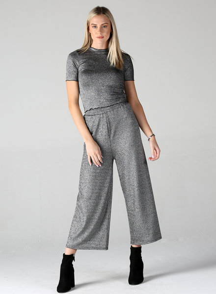 Angie Sparkle Knit Wide Leg Pants (XP830)