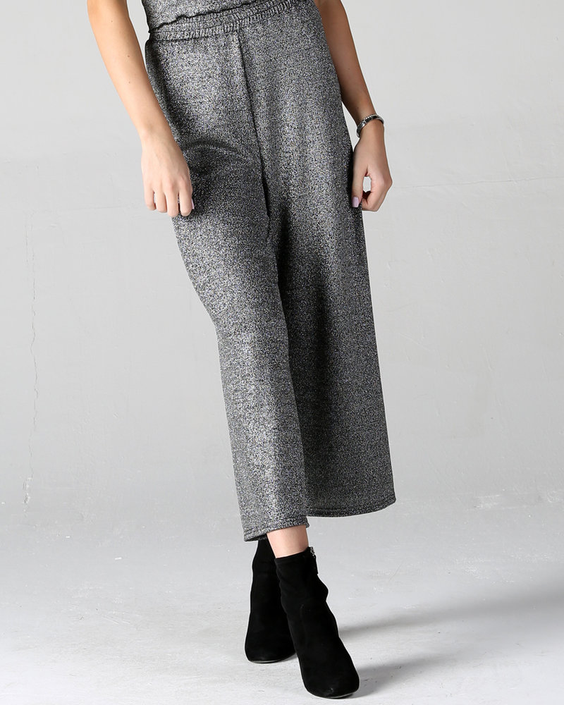 Angie Sparkle Knit Wide Leg Pants (XP830)