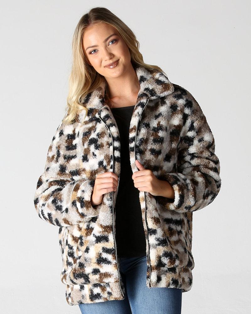 Angie Curly Yarns Fuzzy Coat (SJ998)