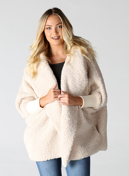 Angie Curly Furry Sweater with Hood (SJA21)
