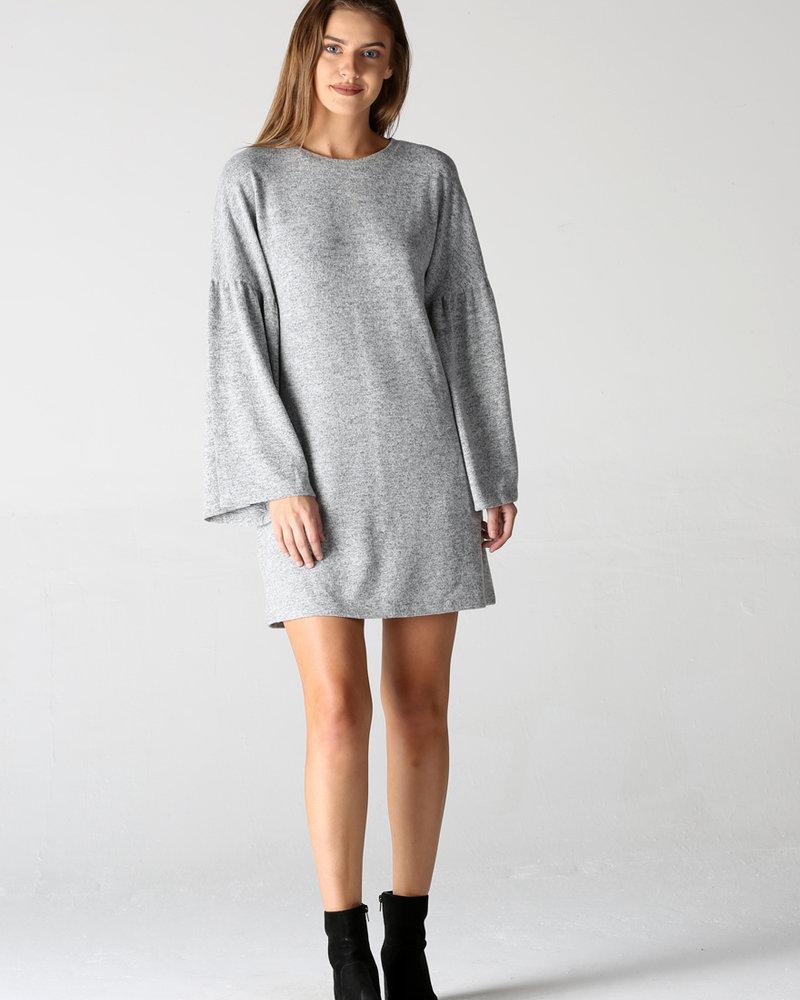 Angie Brushed Hatchi Bell Sleeve Dress (X4V81)