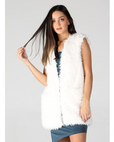Angie Matted Fur Vest With Pockets (SJ953)