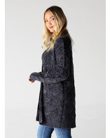 Angie Two Tone Chenille Cardigan (XHF14)
