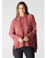 Angie Seam Front Hoodie Chenille (XHF54)