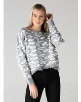 Angie Leopard Print Sweater (XHG37)