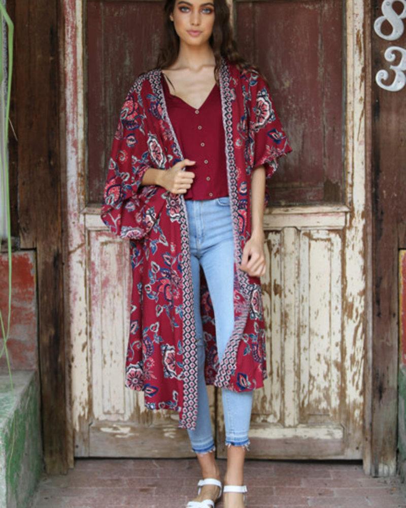 Angie Printed Kimono (BJ607)