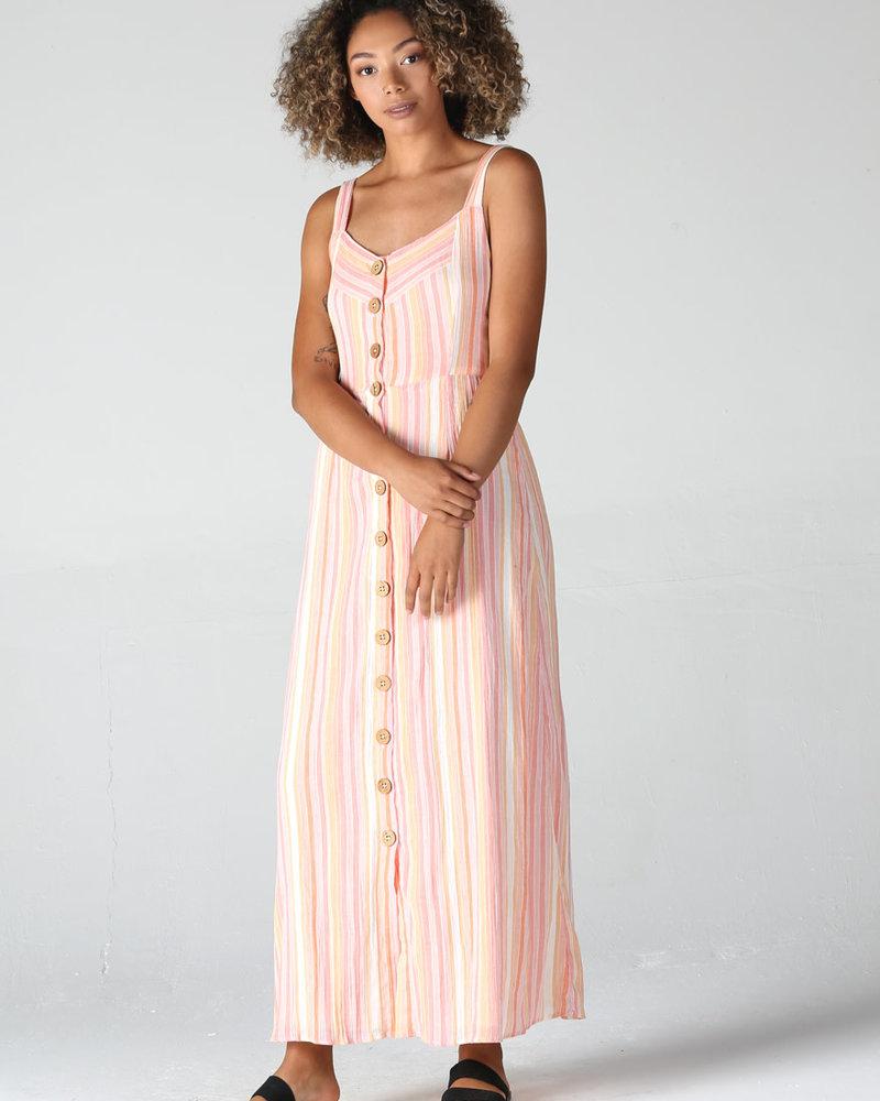 Angie Button Up Maxi Tank Dress (F4B69)