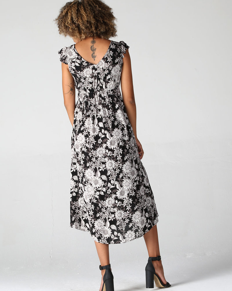 Twist Front Cap Sleeve Dress (F4A45)