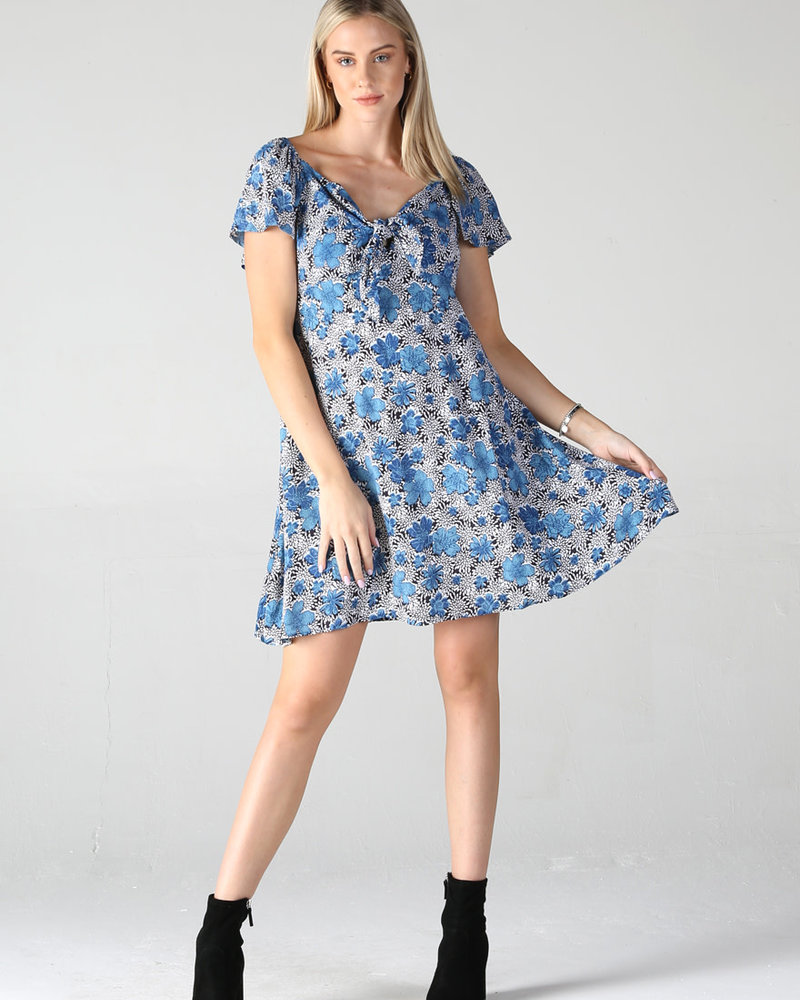 Moss Crepe Tie Front Dress (F4D08)