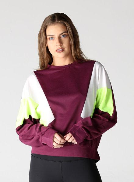 Angie Striped Lightweight Sweatshirt (X2AA1)